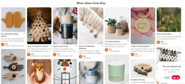 etsy microblog on pinterest