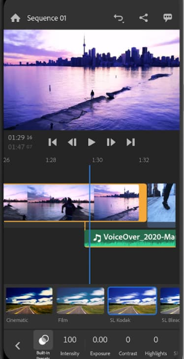 Adobe Premiere Rush video editing app for Android and iOS