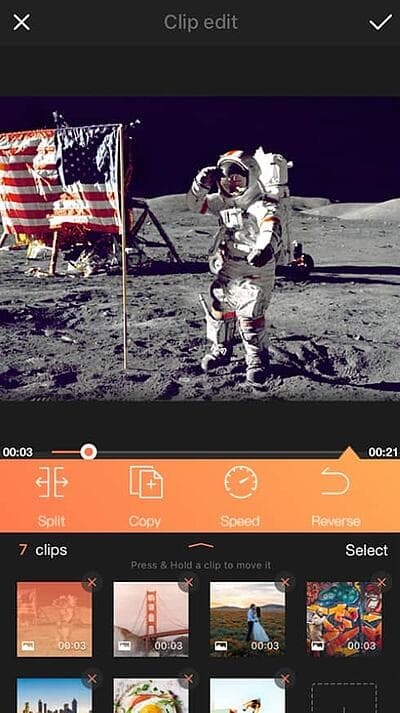 VivaVideo app for editing videos on the Android operating system