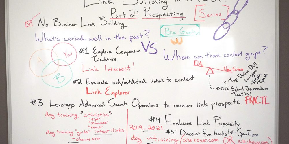 How to Get Backlinks in 2021 [Series Part 2: Prospecting] — Whiteboard Friday