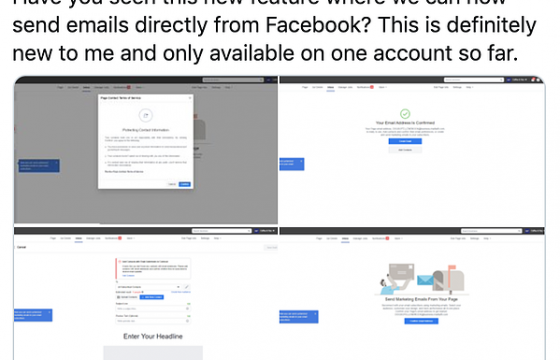 Facebook's Testing New Email Marketing Tools: Here's What We Know So Far