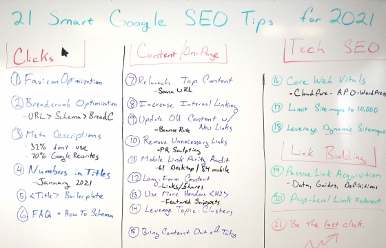 21 Smart Google SEO Tips for 2021