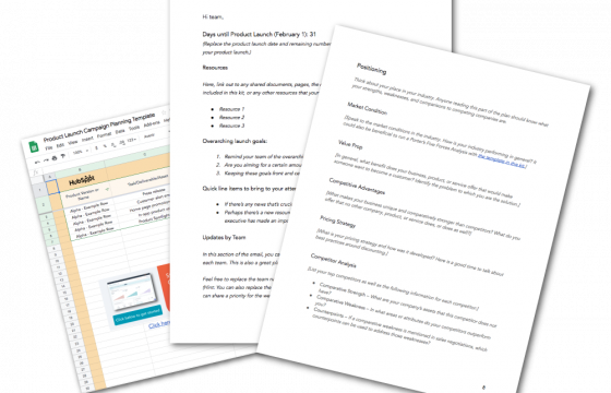 How to Create a Product Launch Email [Outlines + Templates]